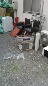 周南市で家電回収のビフォー写真