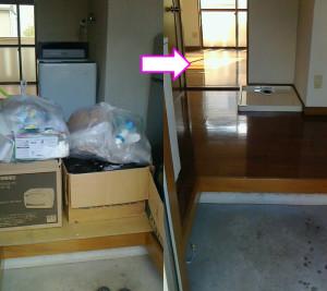 柳井市で冷蔵庫、レンジ、布団等回収の写真