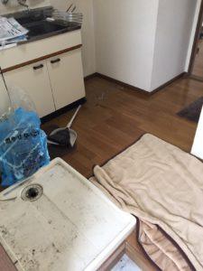 周南市で、冷蔵庫、ベッドなど回収のお客様2