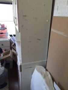 岩国市で、食器棚とテーブル回収のお客様4