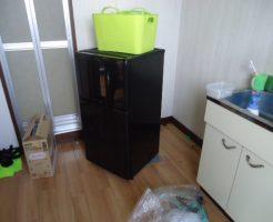 宇部市開で冷蔵庫、電子レンジ、ラックなどの不用品回収 施工事例紹介