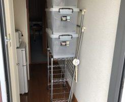 光市島田で衣装ケース、スチールラック、ハンガーラックの不用品回収 施工事例紹介