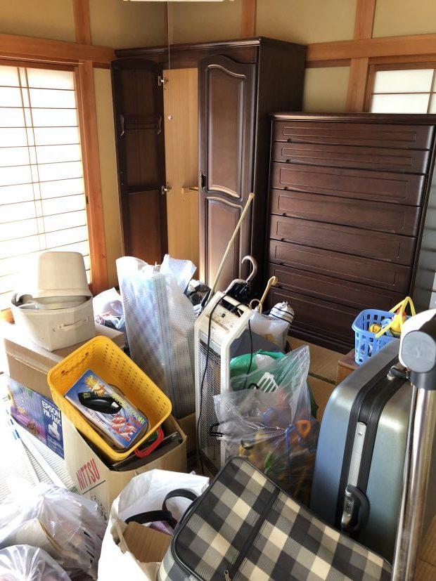 一軒家からの引っ越しで出た家財一式の回収にもしっかり対応!期日内ですべて片付いた、とご満足いただけました!