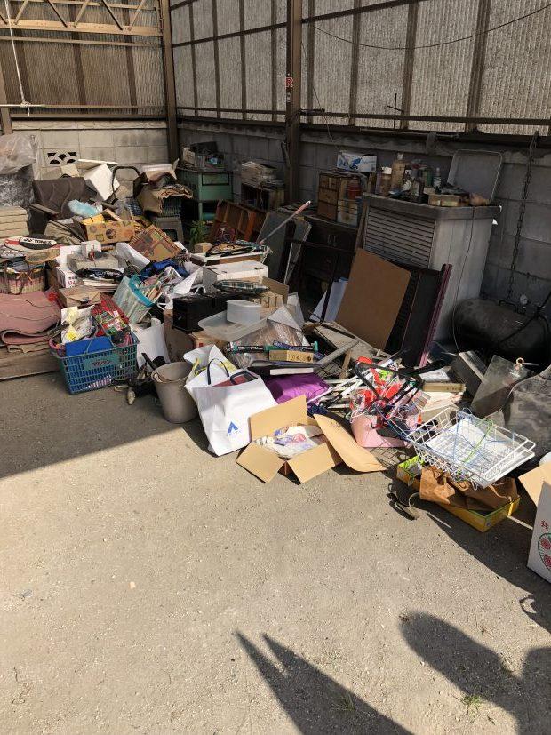 岩国市周東町で軽トラック1台程度の不用品回収 施工事例紹介