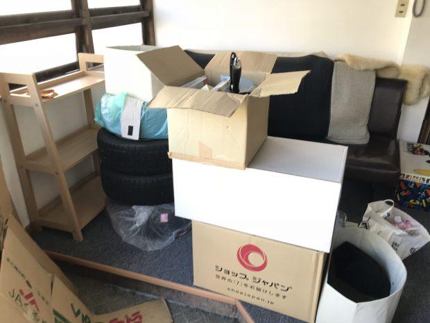山口市小金町でソファー、タイヤ、本棚などの不用品回収 施工事例紹介