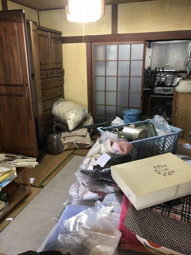 手を付けられなかったお部屋を空っぽに!不用品をすべて回収しました。