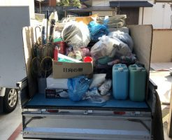 【下松市生野屋西】倉庫内の不用品回収☆電化製品から家庭ごみまでまとめて処分できる便利さにお喜びいただけました。