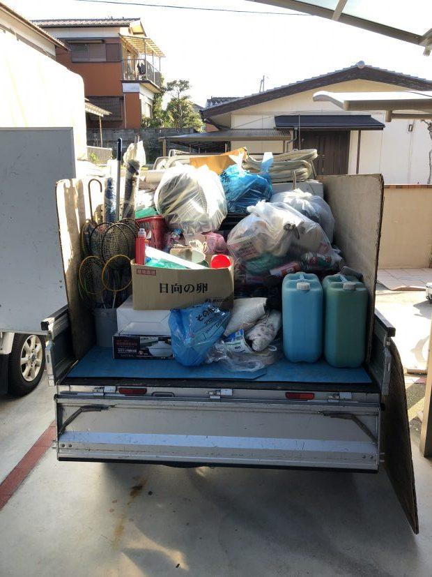 【金ヶ崎町】倉庫内の不用品回収☆電化製品から家庭ごみまでまとめて処分できる便利さにお喜びいただけました。
