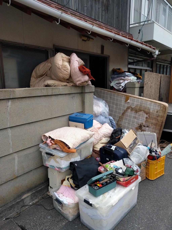 【下関市豊浦町】大量の家庭ごみの回収☆分別なしでのお手軽回収にご満足いただけました!