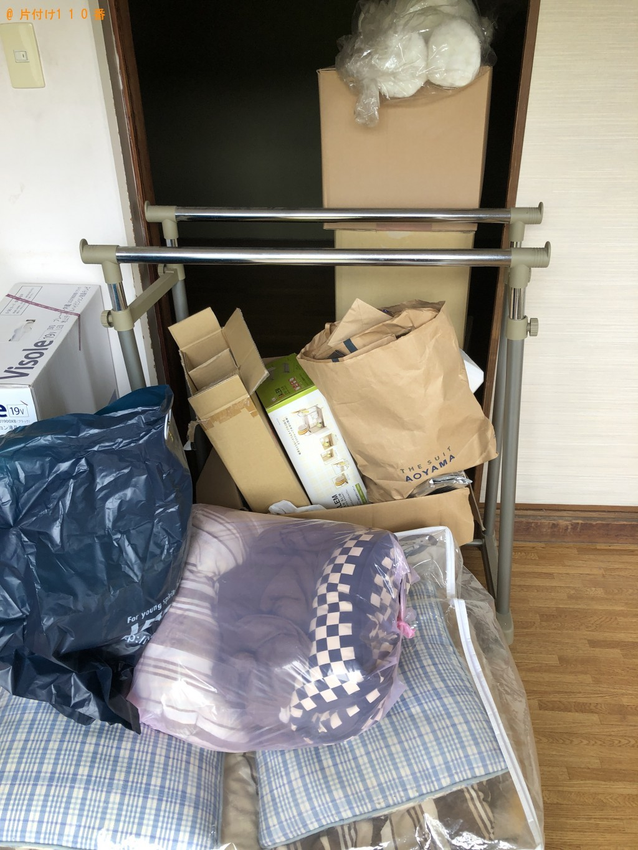 【下関市伊崎町】カーペット、ダンボール、ハンガーラックなどの出張不用品回収・処分ご依頼