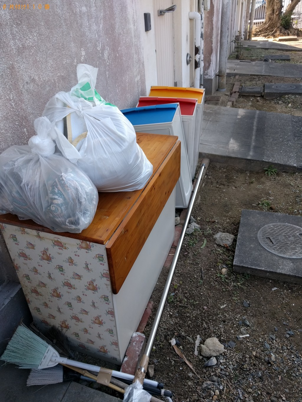 【下関市山の田中央町】扇風機、衣装ケース、下駄箱などの出張不用品回収・処分ご依頼