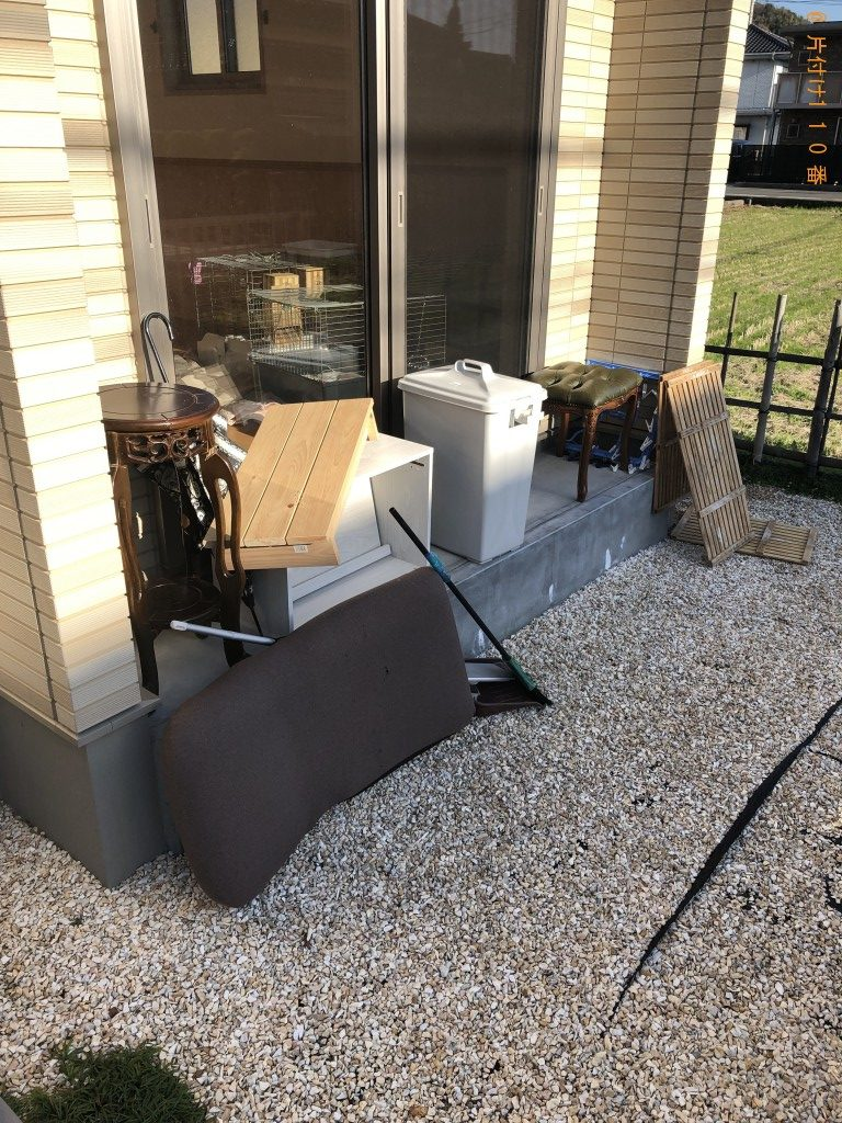 【下松市美里町】座椅子、踏み台、ゴミ箱等の回収・処分ご依頼