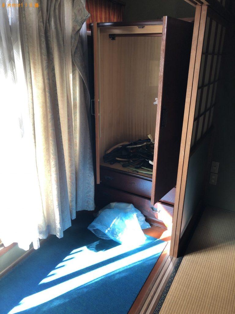 【萩市】整理タンス、カウンターテーブル、布団等の回収
