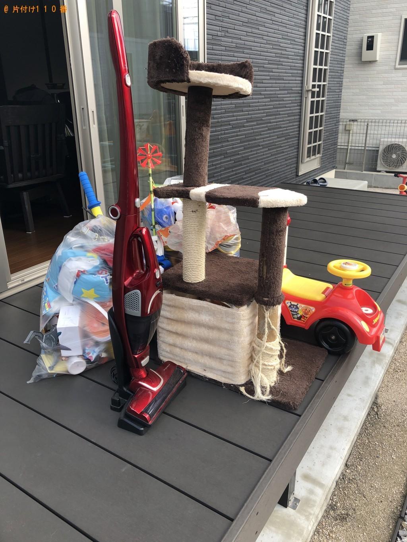 【下松市】キャットタワー、子供用の車、掃除機等の回収・処分