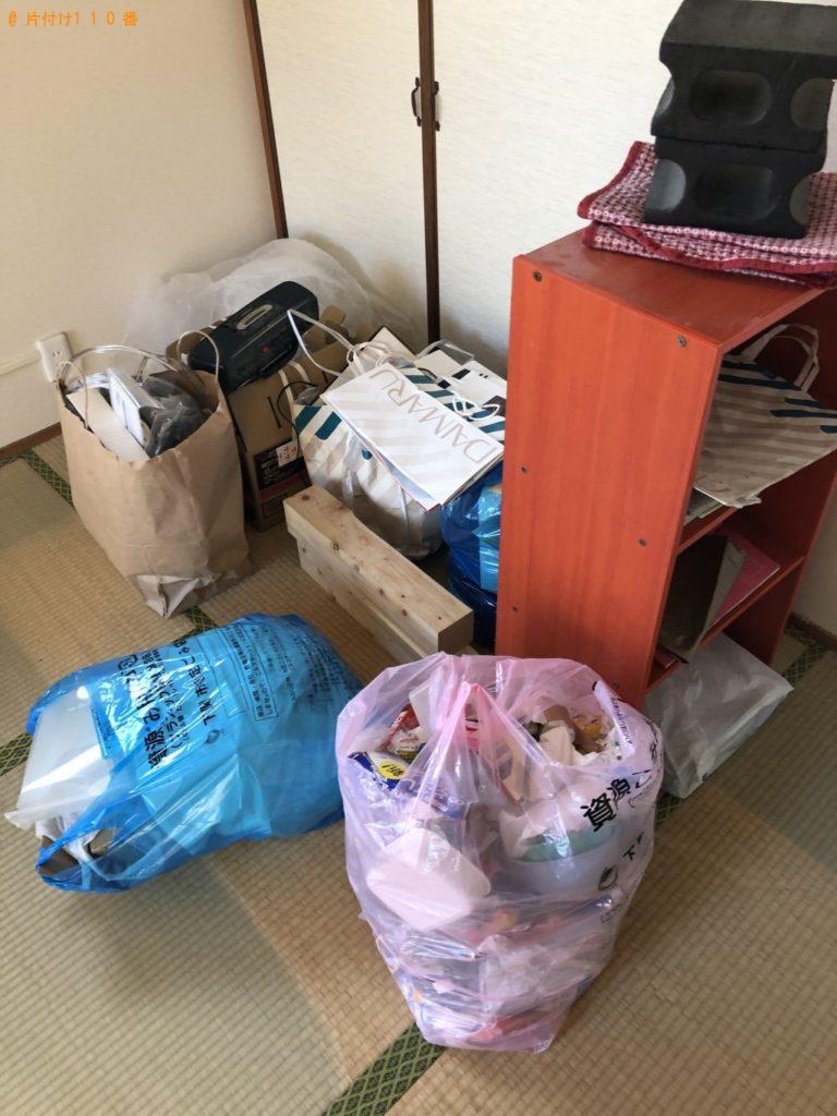 【伊那市】遺品整理に伴いラジカセ、食器棚、カラーボックス等の回収・処分ご依頼