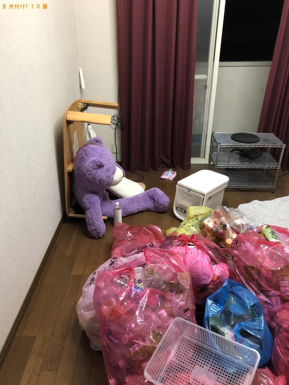 【下関市熊野町】ローテーブル、ぬいぐるみ、カゴ等の回収・処分