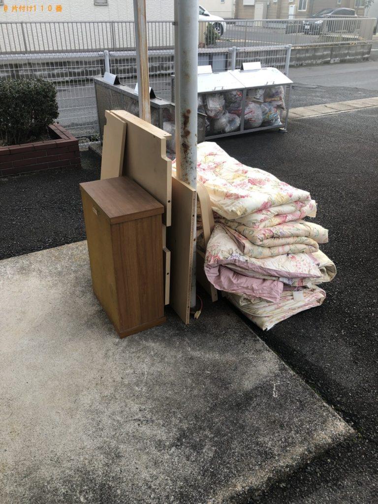 【防府市】遺品整理で仏壇、学習机、布団の回収・処分ご依頼