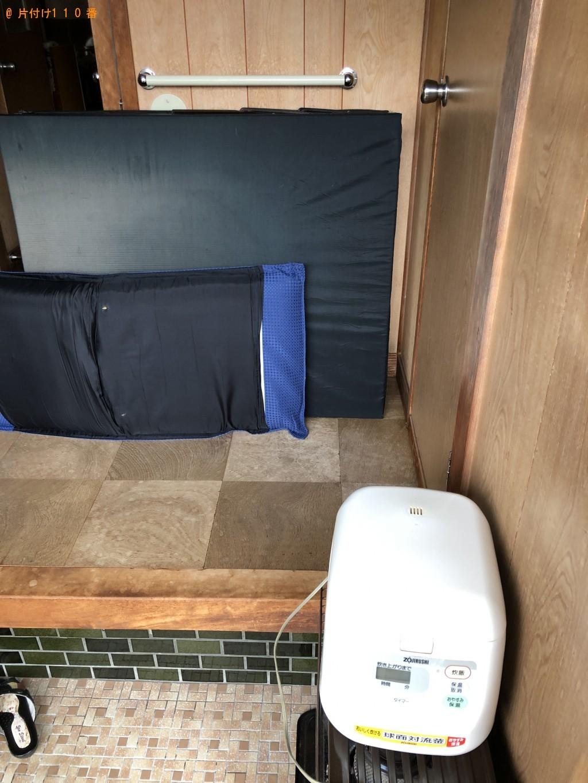 【下関市田倉御殿町】炊飯器、電気ストーブ、折り畳みベッド等の回収