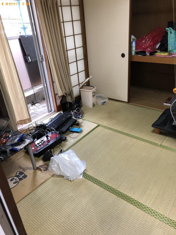 【下関市長府中六波町】ローテーブル、PCモニターセット等の回収