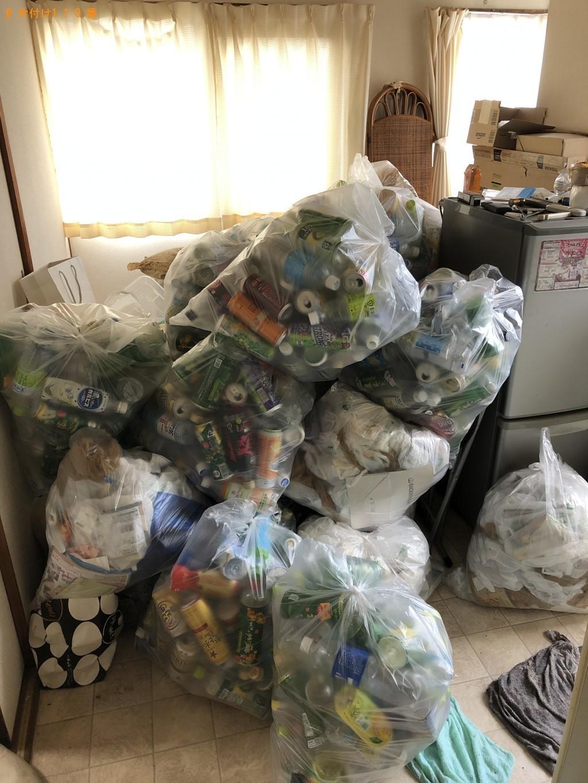 【周南市野上町】ペットボトル、缶、瓶、段ボールなど家庭ごみの回収
