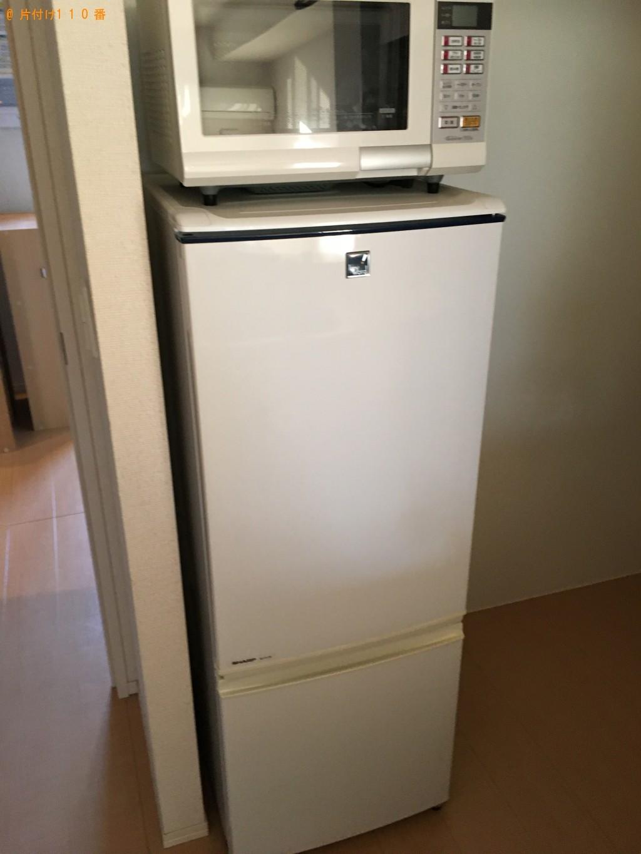 【下関市長府江下町】冷蔵庫、電子レンジ、カラーボックスの回収