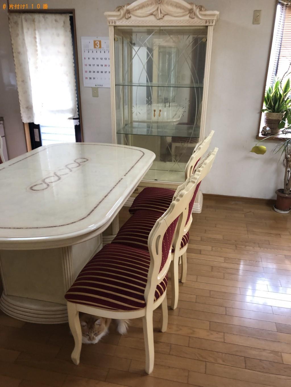 【岩国市玖珂町】キャビネット、6人用ダイニングテーブルの回収