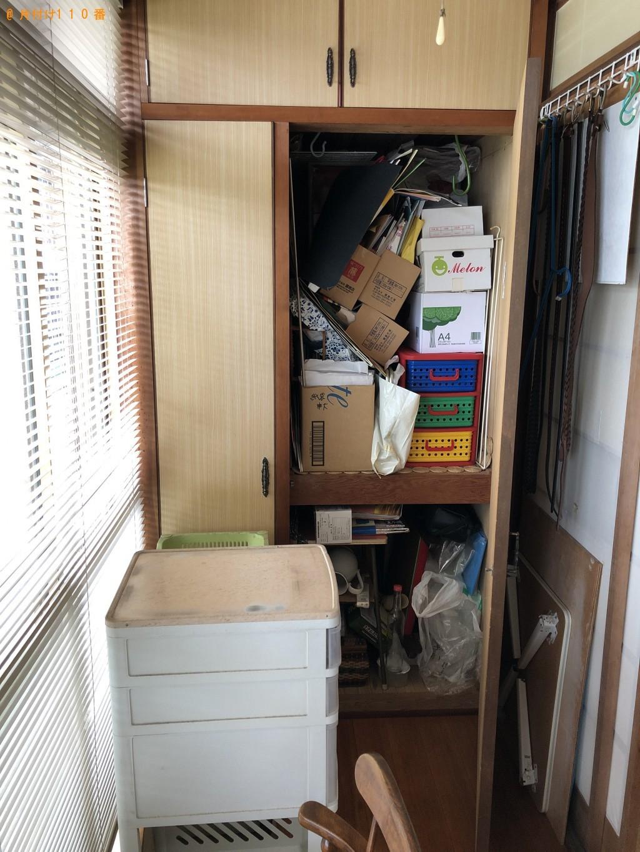 【下関市後田町】テレビ台、布団、収納ケース等の回収・処分ご依頼