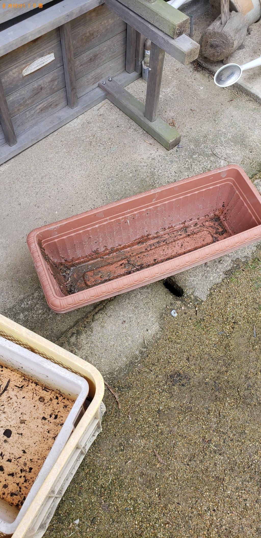 【長門市】土嚢(残土、砂利)、割れたかわら、庭の小石の回収・処分
