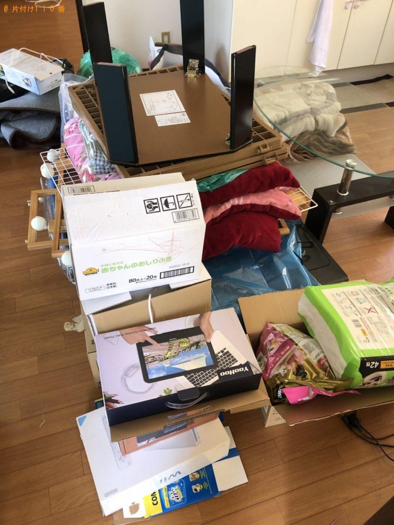 【下野市】遺品整理でテレビ、ガラステーブル、布団などの回収 お客様の声