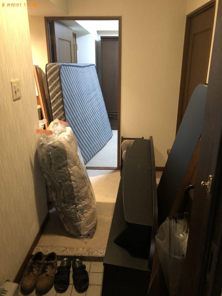 【大田原市】遺品整理に伴いダブルベッド、布団の回収・処分 お客様の声