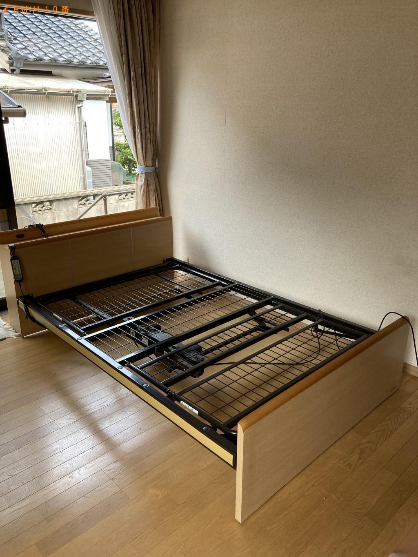 【宇部市五十目山町】電動ベッド、シングルベッドマットレスの回収