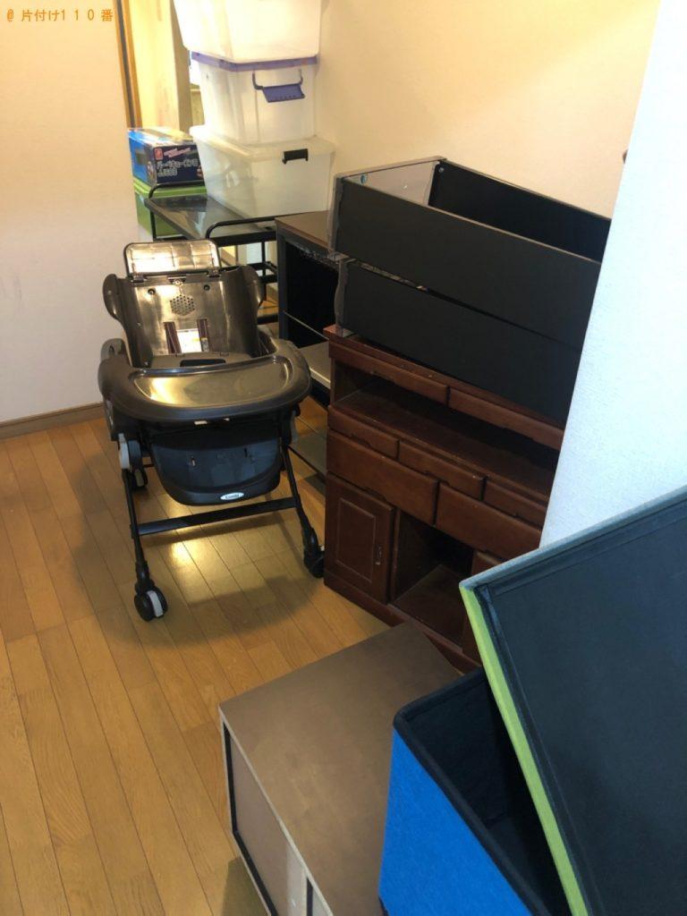 【真岡市】遺品整理で衣装ケース、椅子、テレビ台、ベビーチェア等の回収・処分