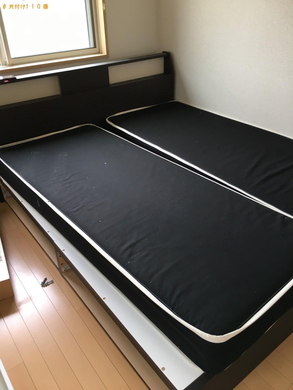 【宇部市】クイーンベッド、ベッドマットレスの回収・処分ご依頼
