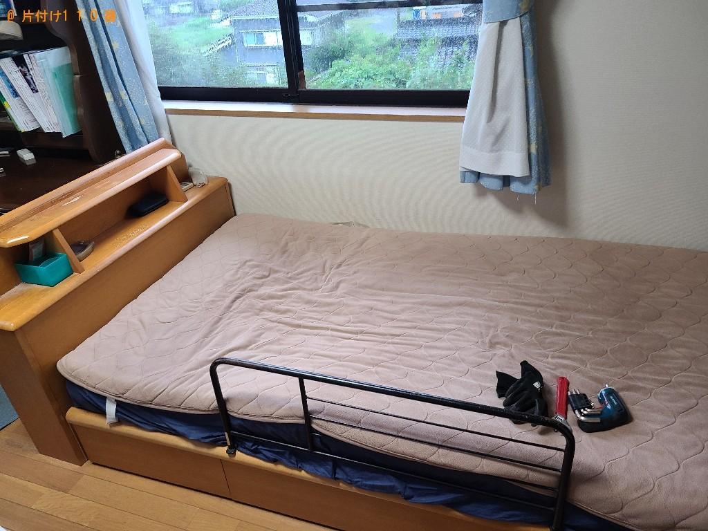 【下関市彦島西山町】シングルベッド、ベッドマットレス等の回収