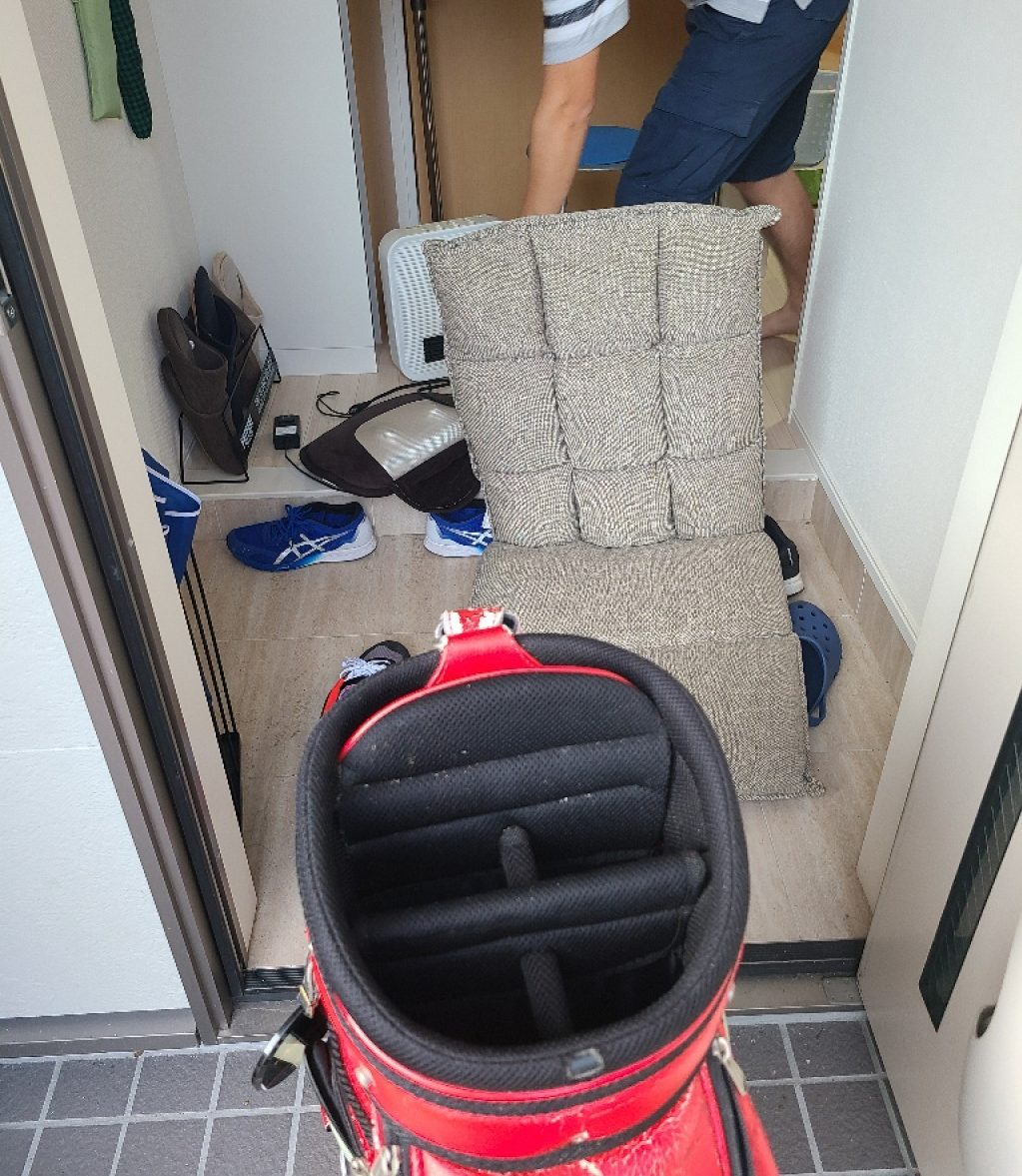 【下関市小月本町】ゴルフバッグ、扇風機、座椅子等の回収・処分