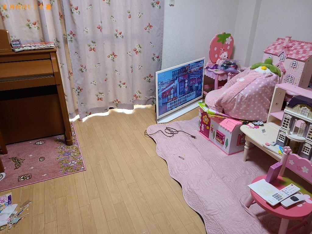 【下関市伊倉本町】ソファー、テレビ台、トランポリン等の回収・処分
