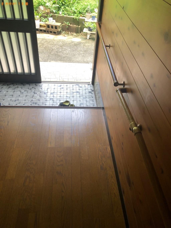 【下関市貴船町】タンス、ヒーター、飾り棚、折り畳みベッド等の回収