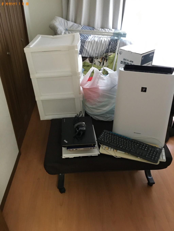 【下関市】パソコン、本棚、折り畳みベッド、自動車タイヤ等の回収