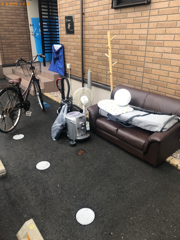 【防府市】ソファー、ローテーブル、キーボード、自転車等の回収
