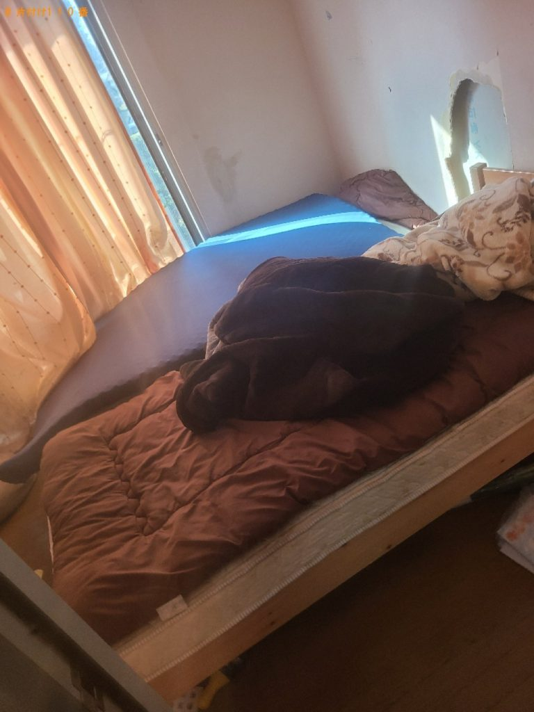 【佐倉市】シングルベッド等の回収とハウスクリーニング