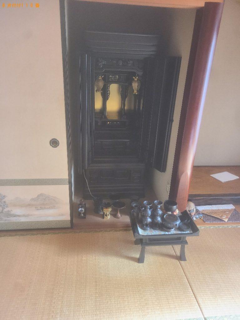 【茅野市】遺品整理に伴い仏壇、神棚の回収・処分ご依頼 お客様の声