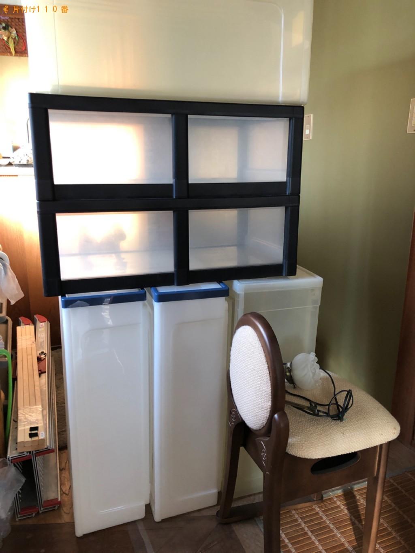 【桶川市】遺品整理に伴い衣装ケース、椅子、鏡台の回収・処分ご依頼