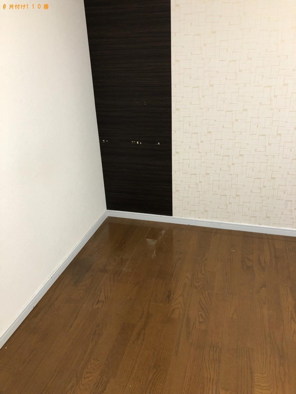 【下関市】遺品整理に伴いテレビ、マットレス付きシングルベッド等の回収