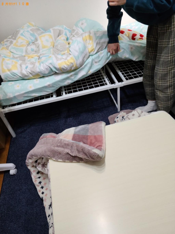 【山口市】シングルベッド、椅子、カラーボックス等の回収・処分