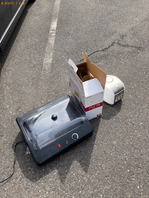 【山陽小野田市】炊飯器、プレステ3、ガスコンロの回収・処分ご依頼