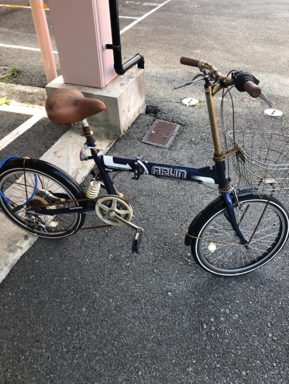 【山口市】マットレス付きシングルベッド、傘、自転車等の回収・処分