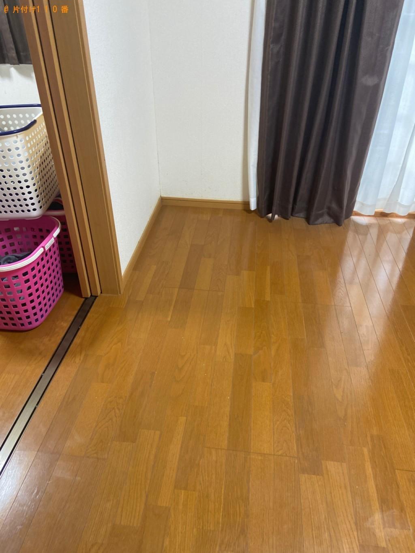 【下関市秋根上町】ソファー、マットレス付きベッド、扇風機等の回収