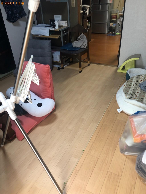 【防府市】折り畳みベッド、クローゼット、三人掛けソファー等の回収