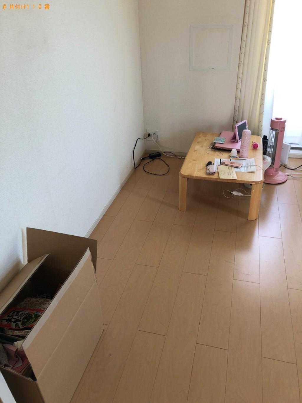 【下松市潮音町】シングルベッド、テレビ台、ラックの回収・処分