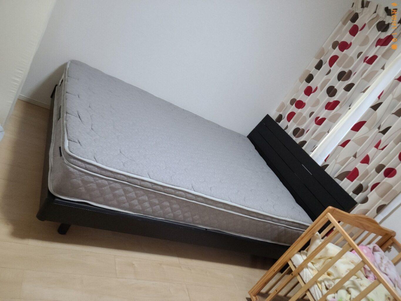 【防府市開出西町】マットレス付きシングルベッドの回収・処分ご依頼
